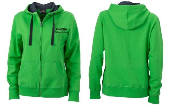 Damen Premium Hoody Sweat-Jacke mit Schriftzug