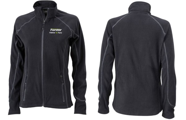 Ladies leichte Outdoor Fleece Jacke mit Logo