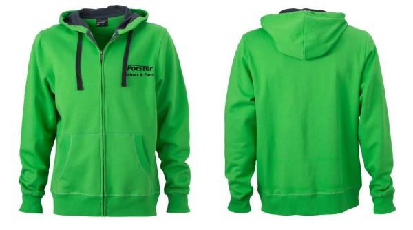 Herren Premium Hoody Sweat-Jacke mit Schriftzug