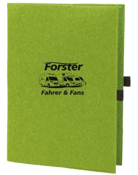 Filzhülle mit Forster Fahrer & Fans Logo