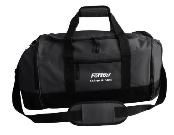 Sporttasche mit Forster Fahrer & Fans Schriftzug
