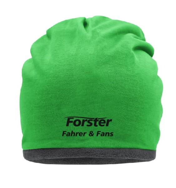 Fleece Beanie mit Forster Fahrer und Fans Schriftzug